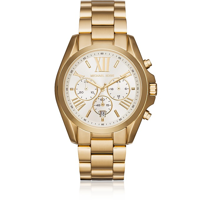 Oversized Bradshaw Gold Tone Women's Watch - Michael Kors