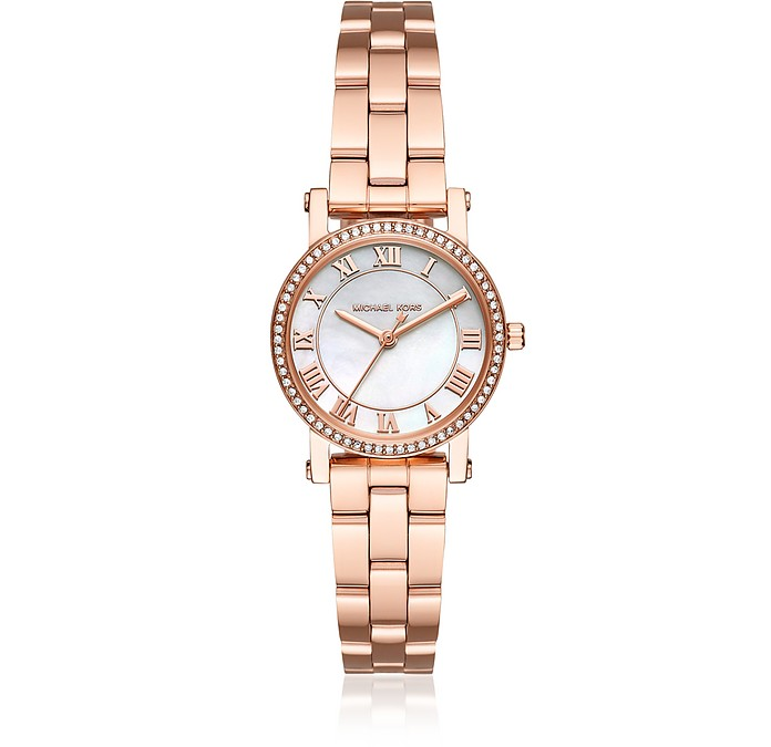 Petite Norie Pavé Rose Gold Tone Women's Watch - Michael Kors