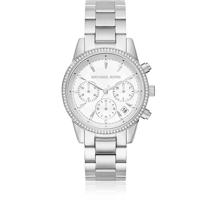 Ritz Silver Tone Women's Watch - Michael Kors