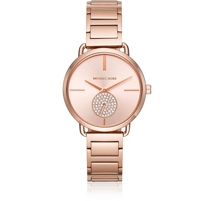 Portia Rose Gold Tone Women's Watch - Michael Kors