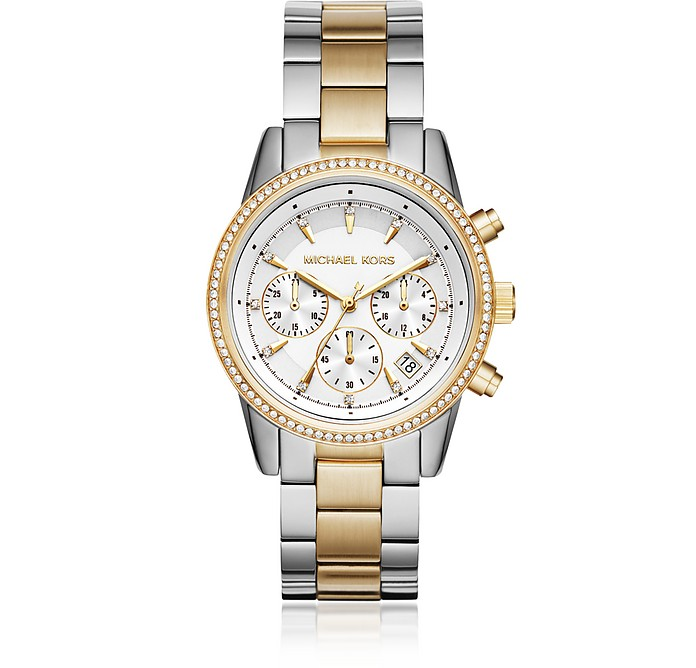 Ritz Gold and Silver Tone Women's Watch - Michael Kors