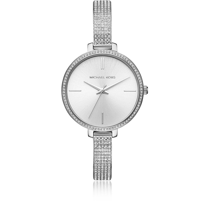 Jaryn Pavé Silver Tone Women's Watch - Michael Kors