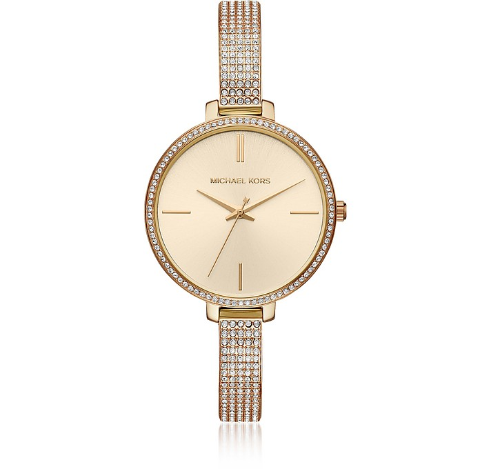 Jaryn Pavé Gold Tone Women's Watch - Michael Kors