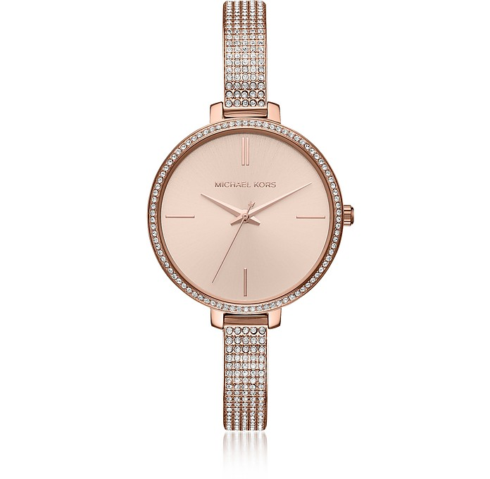 Jaryn Pavé Rose Gold Tone Women's Watch - Michael Kors