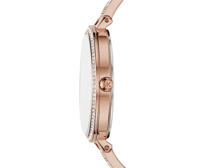 Michael Kors Jaryn Pave Rose Gold Tone Women S Watch At Forzieri