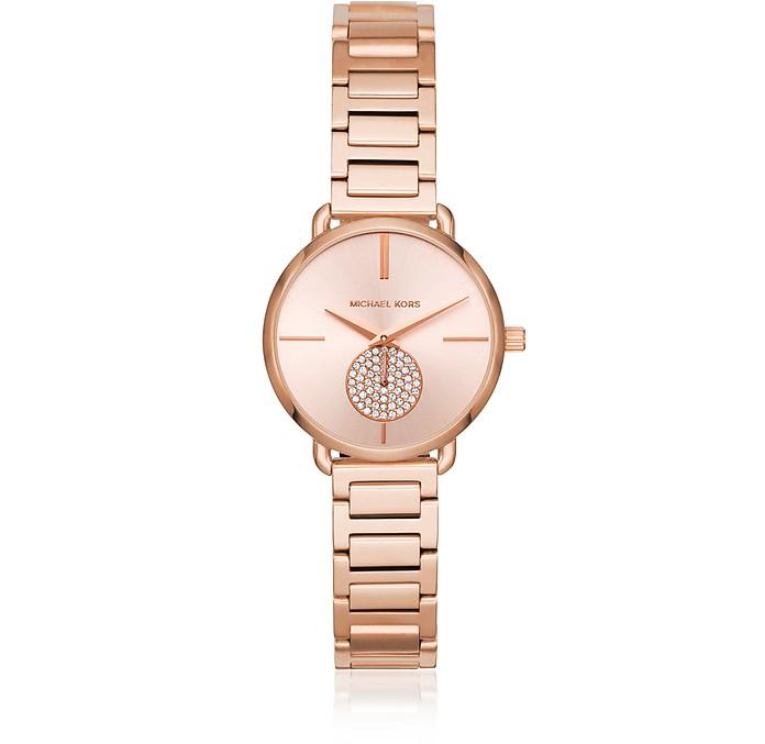 Petite Portia Rose Gold Tone Watch - Michael Kors