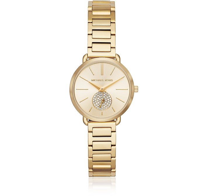 Petite Portia Gold-Tone Watch - Michael Kors