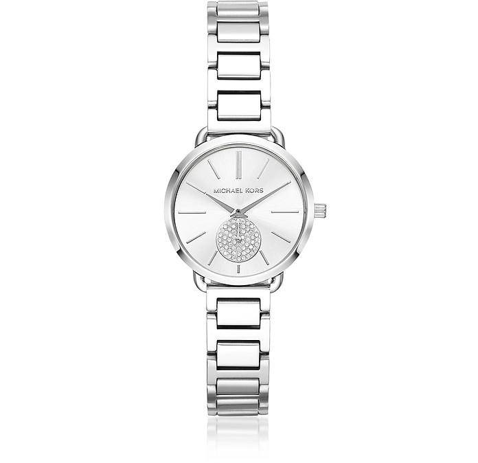 Petite Portia Silver Tone Watch - Michael Kors