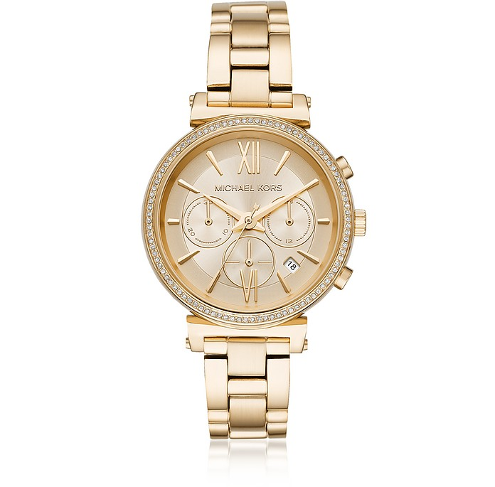 Sofie Pavé Gold-Tone Women's Watch - Michael Kors