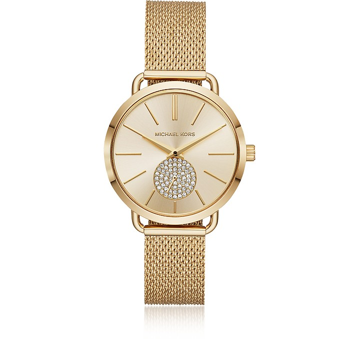 Portia Mesh Gold Tone Watch - Michael Kors