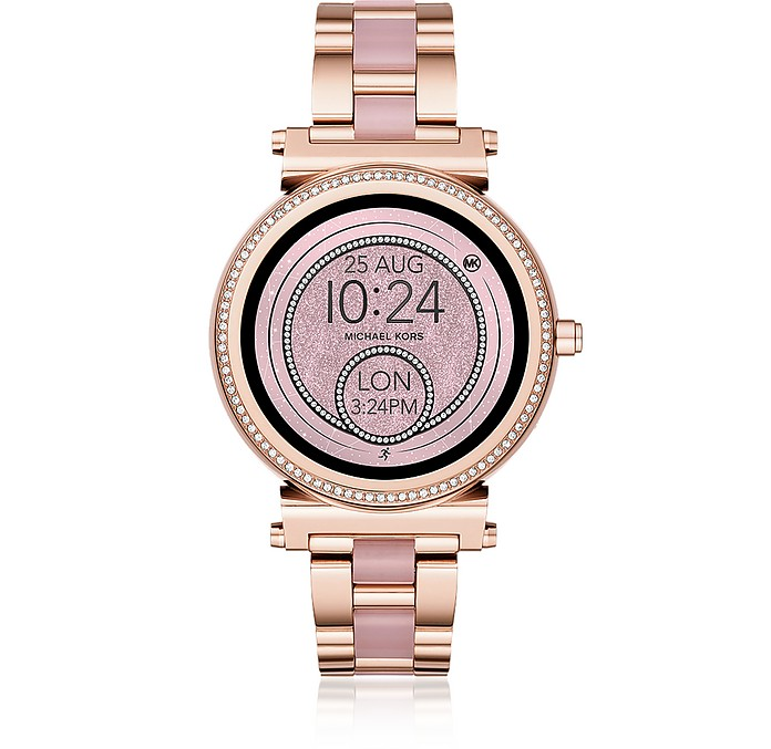 Michael Kors Access Sofie Rose Gold-Tone and Acetate Touchscreen Smartwatch  - Michael Kors 195c5e06a4