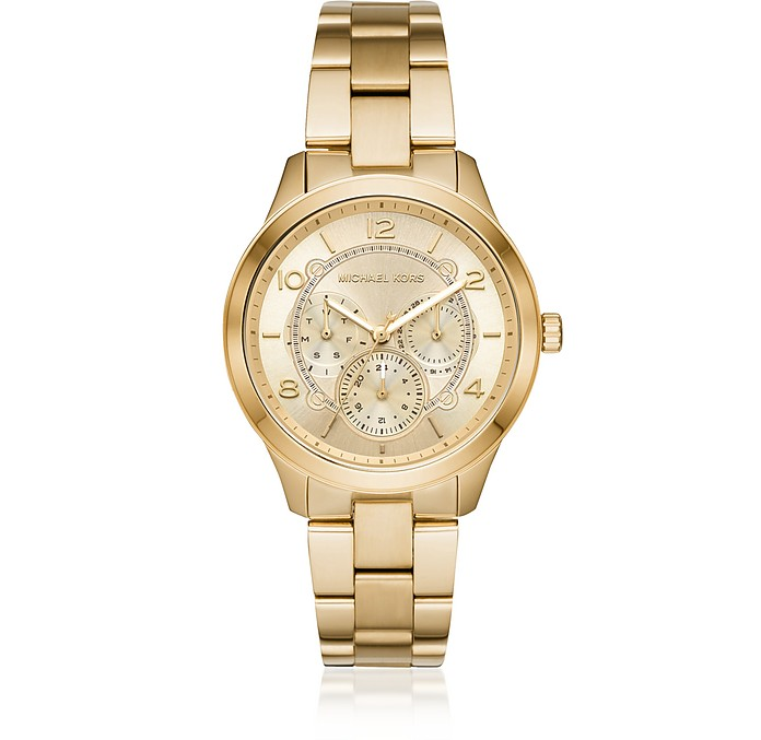 Runway Gold Tone Multi-function Watch - Michael Kors