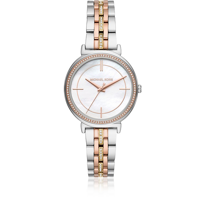 Cinthia Two Tone Stainless Steel Watch - Michael Kors