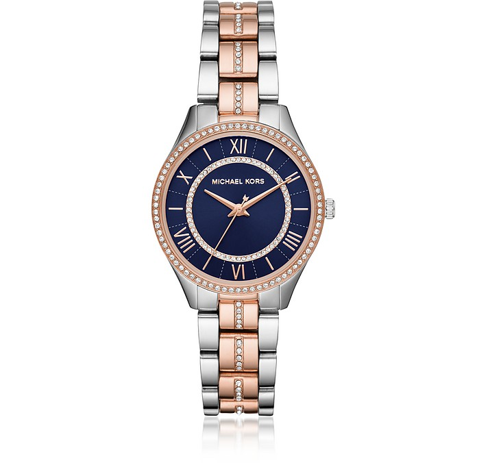 Mini Lauryn Pavé Two Tone Watch - Michael Kors
