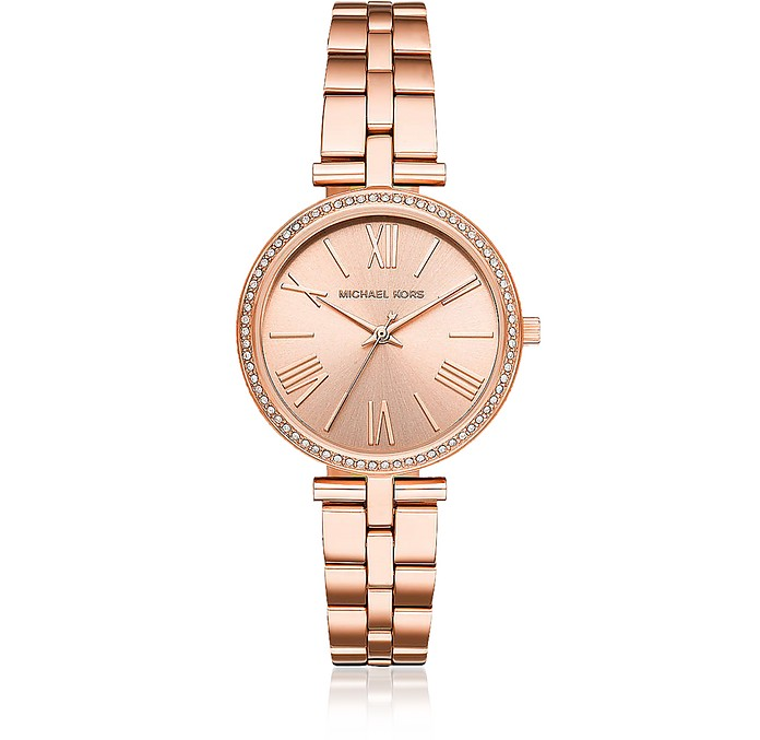 Maci Rose-Gold Tone Watch - Michael Kors
