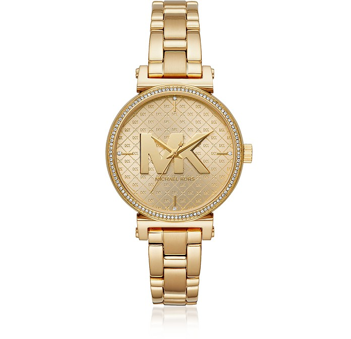 Sofie Gold Tone Signature Watch - Michael Kors