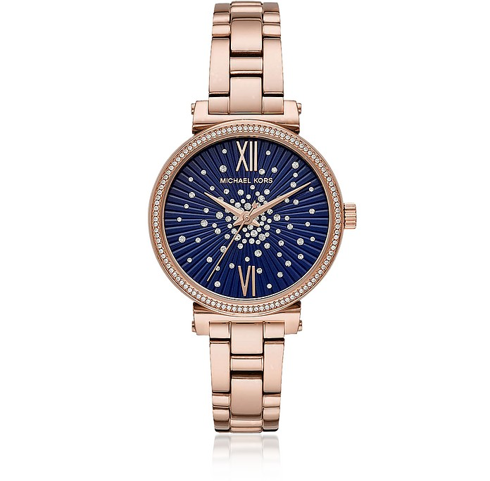 Sofie Pavé Rose Tone Watch - Michael Kors