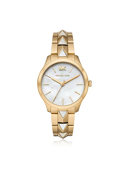 Runway Mercer Gold-Tone and Pearl Watch - Michael Kors