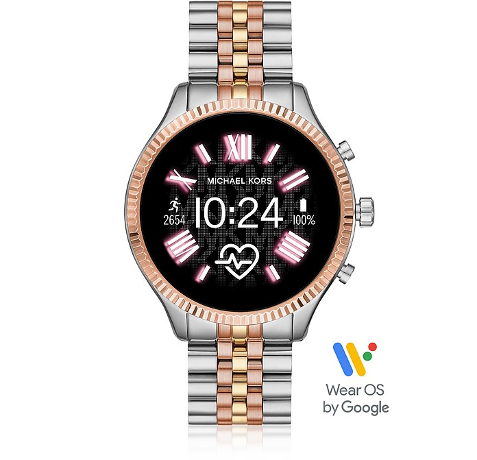 Tri-tone Stainless Steel Lexington 2.0 Women's Display Watch - Michael Kors