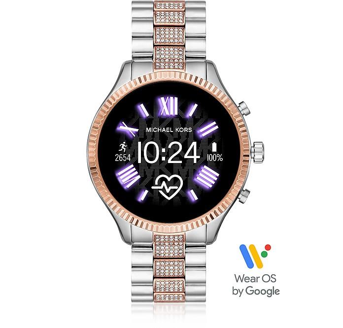 Pavè Two-Tone Stainless Steel Lexington 2.0 Women's Display Watch - Michael Kors