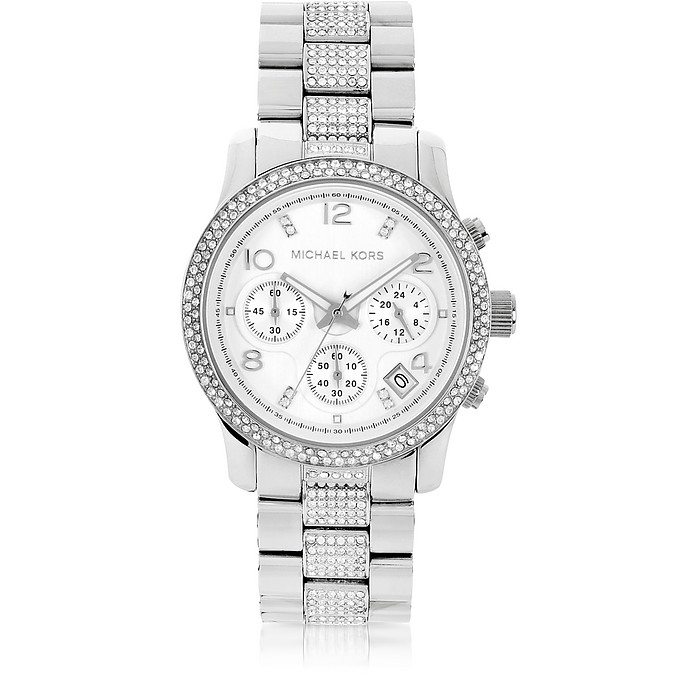 Runway Chronograph Glitz and Stainless Steel Watch - Michael Kors