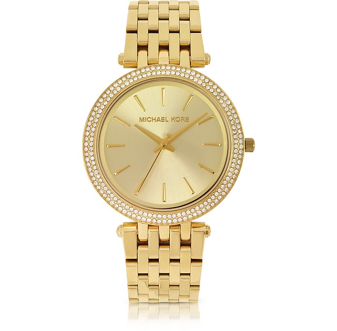 Mid-Size Golden Stainless Steel Darci  Women's Watch - Michael Kors
