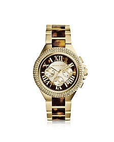 Camille Tortoise and Gold-Tone Stainless Steel Women's Chronograph Watch