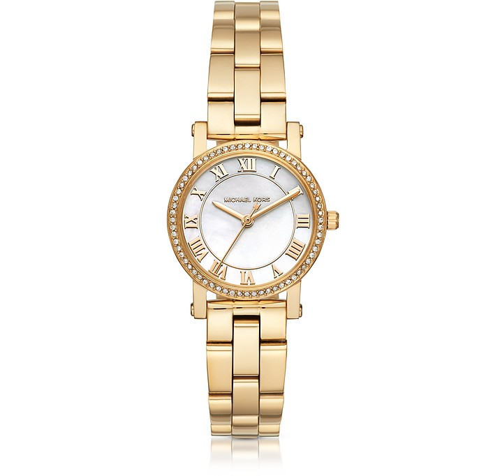 Petite Norie Gold-tone Stainless Steel Women's Watch - Michael Kors