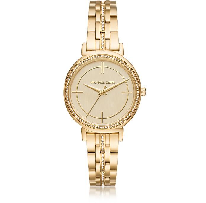 Cinthia Golden Stainless Steel Women's Watch - Michael Kors