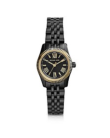 Petite Black Stainless Steel Lexington Three-Hand Watch
