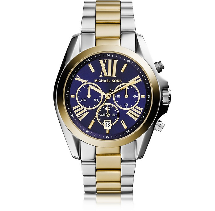 Bradshaw Two Tone Stainless Steel Women's Watch - Michael Kors