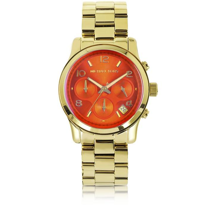 Runway Flash Lens Gold Tone Stainless Steel Women's Watch - Michael Kors