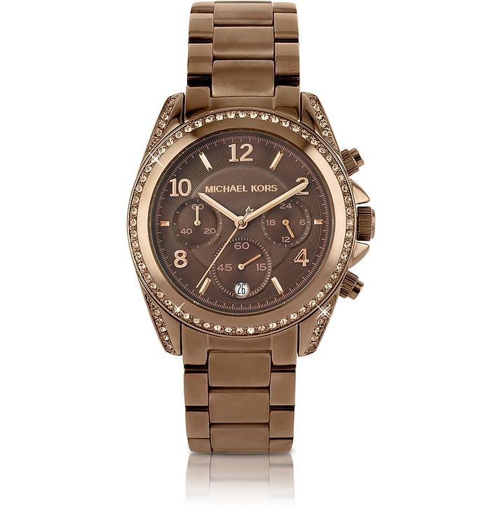 7e74909d6807 Michael Kors Runway Glitz - Reloj de Acero Color Bronce - FORZIERI