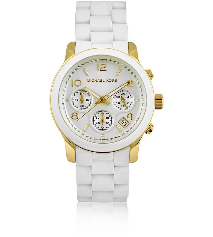 White Chronograph Watch - Michael Kors