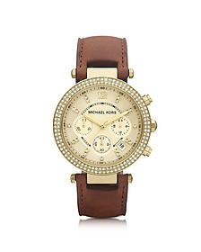 Mid-Size Parker Chronograph Glitz Watch - Michael Kors