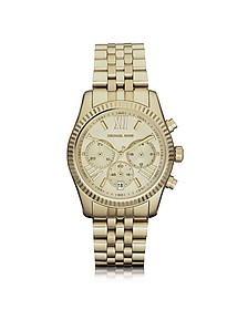 Mid-Size Golden Lexington Chrono Watch - Michael Kors