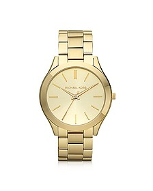 Runway Slim Gold Tone Watch - Michael Kors