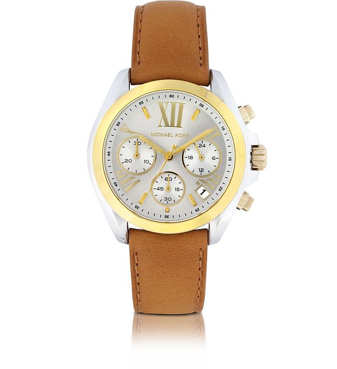 Bradshaw Luggage w/Leather Strap Women's Chronograph Watch - Michael Kors