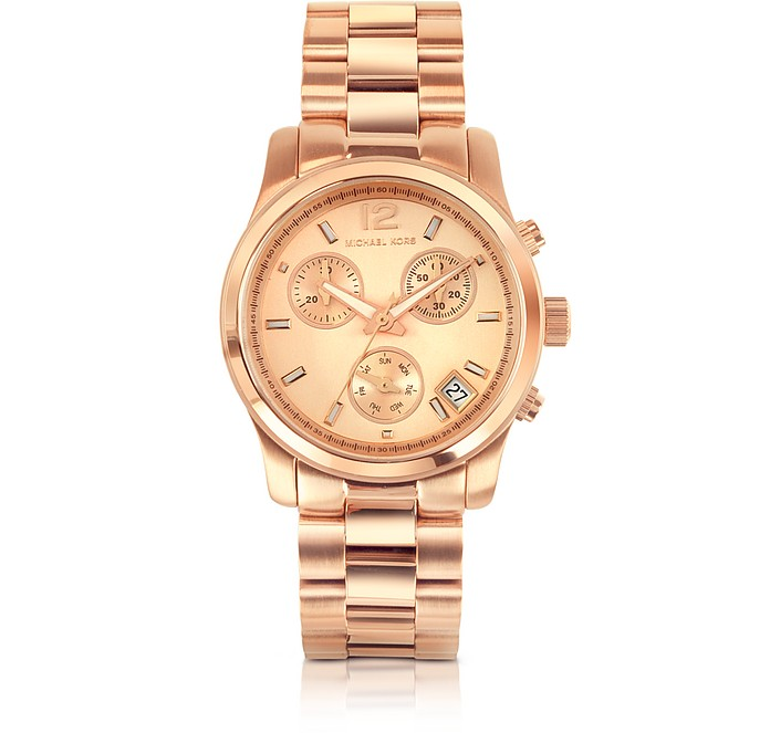 Runway Rose Gold Plated Stainless Steel Bracelet Women's Watch - Michael Kors