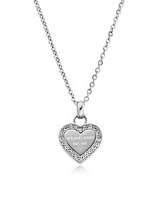 Heritage Stainless Heart Necklace w/Crystals - Michael Kors