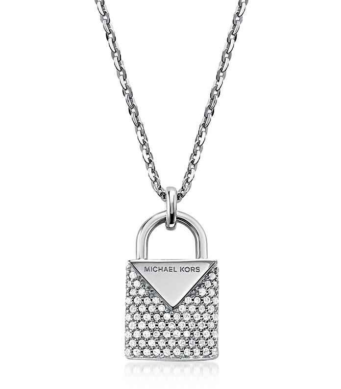 Kors Pavé Rhodium Women's Necklace - Michael Kors
