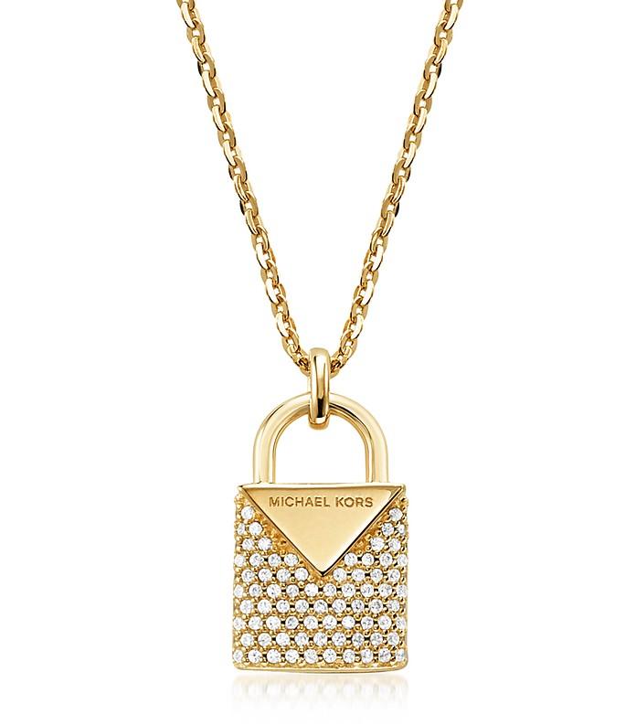 Kors Pavé Lock Women's Necklace - Michael Kors