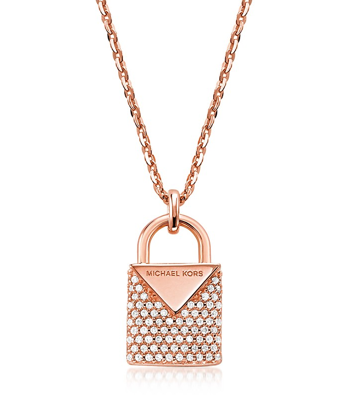 Kors Pavé Lock Women's Necklace - Michael Kors