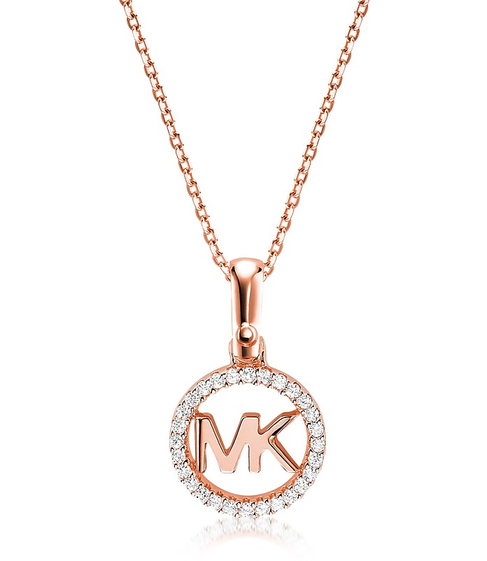 Kors Custom Rose Gold Logo Women's Necklace - Michael Kors