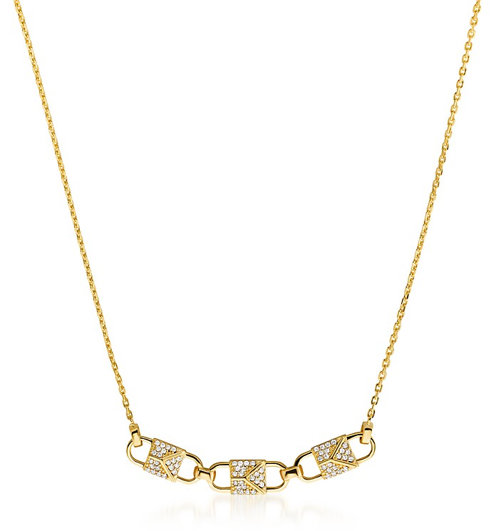 Mercer Link w/Crystals Necklace - Michael Kors