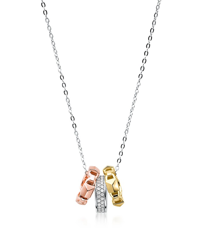 Mercer Precious Metal-Plated Sterling Silver Tri-Ring Necklace - Michael Kors