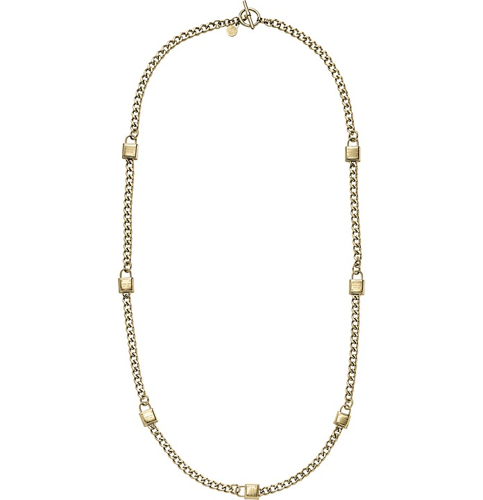 Heritage Long Padlock Chain Necklace - Michael Kors