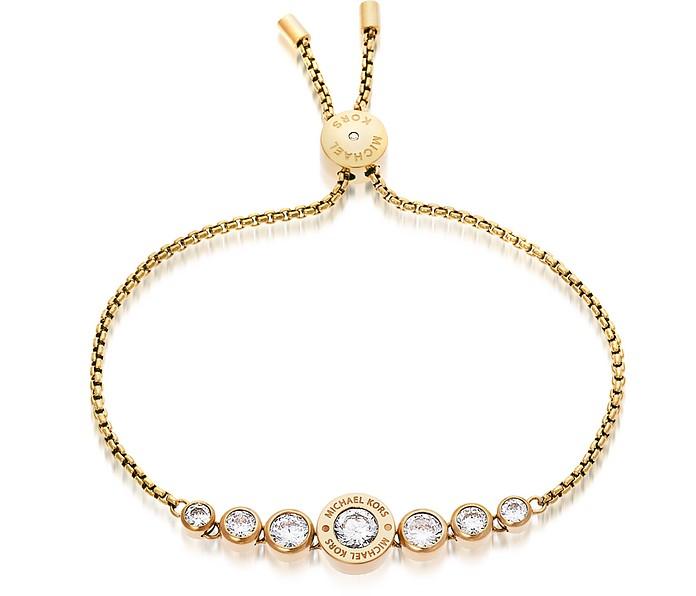 Brilliance Goldtone Bracelet w/Crystals - Michael Kors
