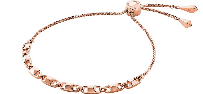 Rose Gold Mercer Link Women's Slider Bracelet - Michael Kors