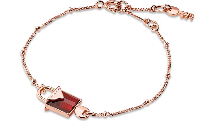 Mercer 14K Rose Gold Plated Sterling Silver Lock Bracelet - Michael Kors